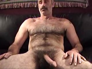 Straight Man With Hairy Chest And Bush Cum