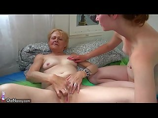 Oldnanny fat Mature sucking and licking