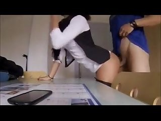 The office slut fucks the delivery guy