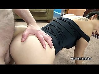 Busty hottie brianna stars takes all the cum on her ass