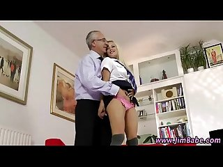 Saucy schoolgirl gets pounded