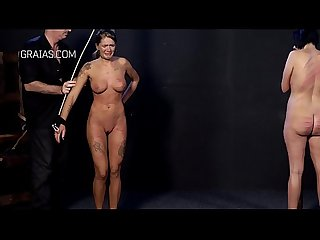 Beautiful blonde slut caned until cries