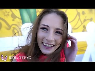 Real Teens - art student Kyler Quinn gives a pov outdoor bj