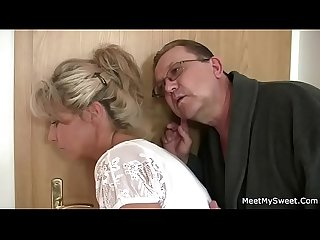 Horny mom and dad fucks their son s gf