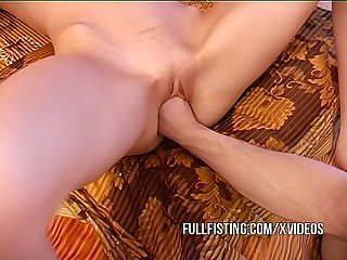 Petite little horny slut gets fisted