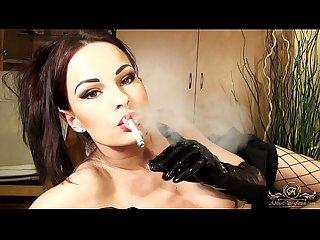 Smoking fetish hot smoking blowjob in gloves abbie