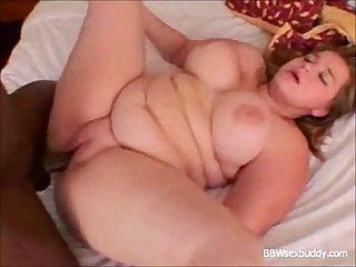 Yummy bbw vs big black cock