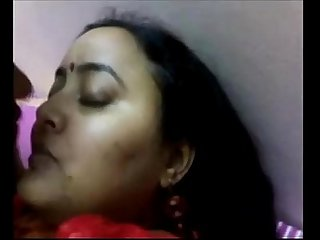 indian aunty with husband boob sucking