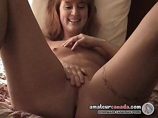 Small tit wife has pierced pussy and huge toy inside her