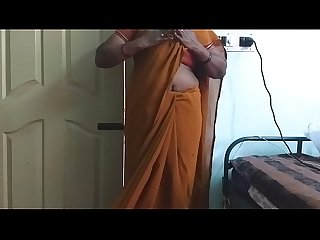 Desi Indian horny Tamil telugu kannada malayalam Hindi cheating wife wearing saree vanitha showing b