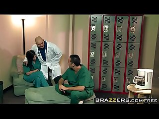 Brazzers doctor adventures sexy doctor takes advantage of male nurse scene starring andy san di