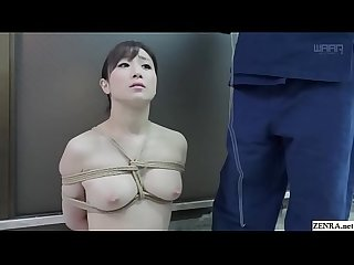 BDSM JAV Yuu Kawakami CMNF Nose Hook Blowjob