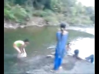 Hot and busty amateur teen babe swimming naked in the river fuckmehard club