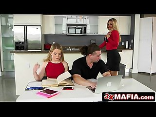 Sneaky milf nina dolce makes a move on her stepdaughter S boyfriend
