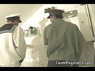 Hot twinks in uniforms fucking hard