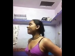 Tamil girl taking self video for her bf
