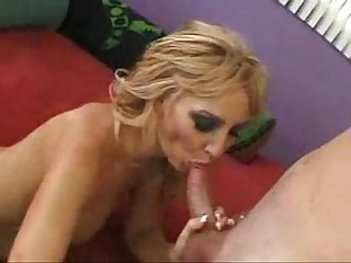 Sexy blonde mom straight and anal
