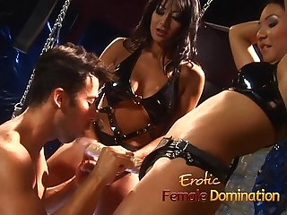 Mistress Brandi Lyons tests her slaves limits in a bdsm session-6