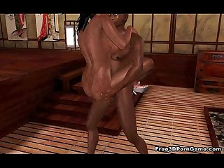 Yummy 3D cartoon ebony honey getting fucked hard