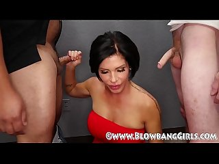 Shay fox blowbang she sucks off 6 guys