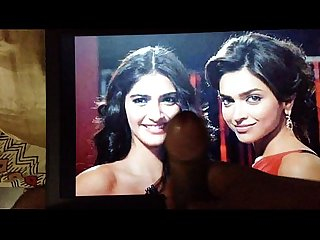 Cum Tribute Threesome with Deepika and Sonam
