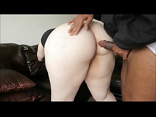 Pale BBW fucked by a BBC in both holes