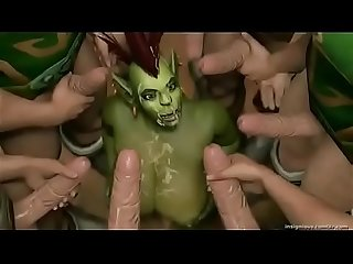 Sexy 3d goblin babe with huge tits