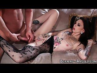 Kinky tat goth cum soaked