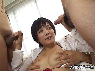 Cute meguru kosaka big tits action