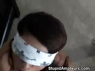 Wife blindfolded and shared with friend