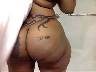 Blackwoman ebony cherokee d ass bathroom damn fucking sexy