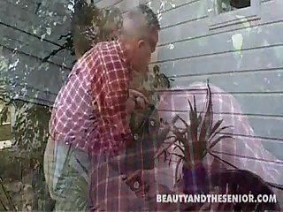 Alina and paul fucked in the garden