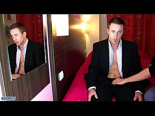 Marc a real str8 banker get wanked his huge cock in spite of him excl