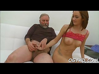 Old guy seduces a juvenile hottie