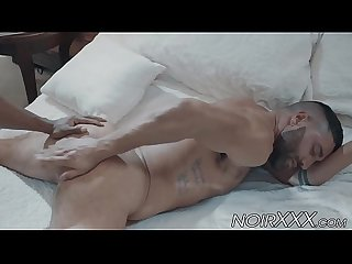 Black hunk Max Konnor rimms and anally fucks muscular gay Luca Miklos