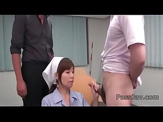 Chihiro akino provides blowjob while at work