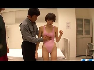 Akina hara gets shared by two males in threesome
