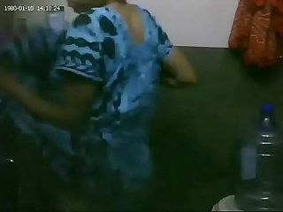 Maid bathing on hidden cam