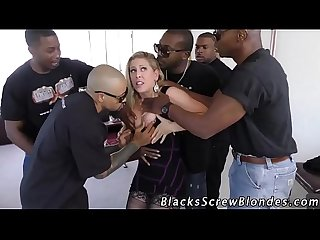 Blonde gets bbc bukkaked
