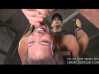 Throat bondage fuck
