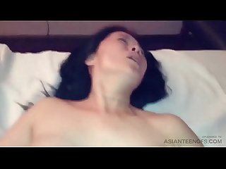 Sensual Asian babe really enjoying western cock