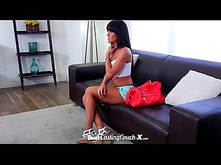 CastingCouch-X - Brunette Rahyndee James first time fuck on camera