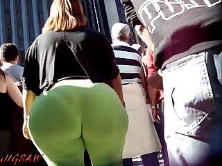 Candid booty Culo bunda rabuda suplex spandex lycra voyeur Pawg premium10