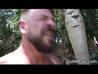 Muscly bear fucks raw