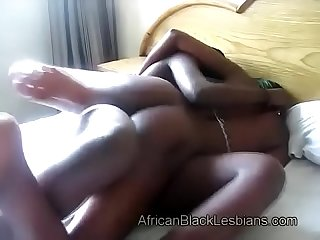 Big booty black lezzie pleased by hoce strapon dildo 4