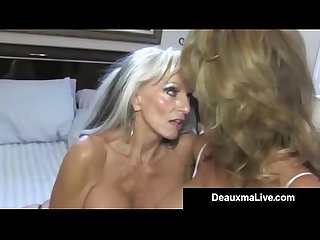 Texas cougar deauxma watches as sally d angelo bangs hubby