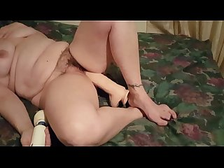 Part2 my wife using a huge dildo and her vibrator for a good orgasm