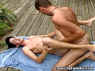 Gay jocks outdoor backyard bareback fuck