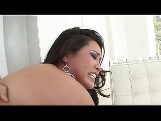 Gorgeous Jessica Bangkok plays with her cunt then gets drilled by huge dick
