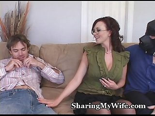 Hot wife S hubby is a piggy